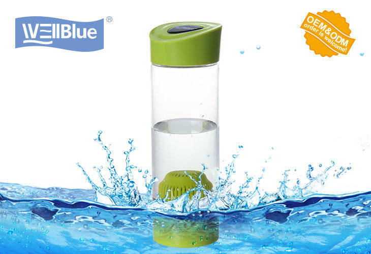 Portable BPA Free plastic alkaline water filter bottle with carry bag