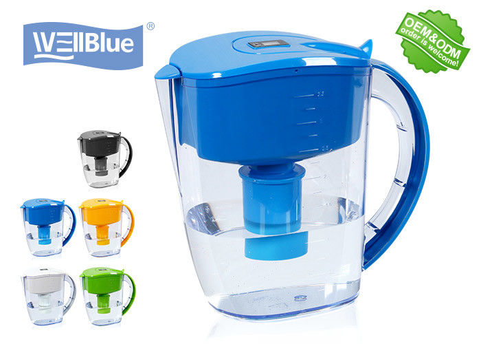 Antioxidant High PH Alkaline Water Filter Jug , Plastic Wellblue Water Pitcher